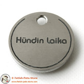 Dog Tag Round Stainless Steel
