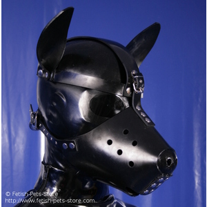 Rubber Dog Snout + Latex Hood