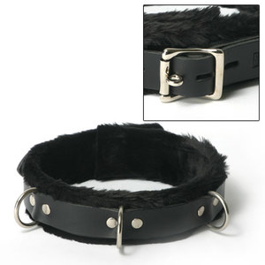 Narrow Fur Lined Collar