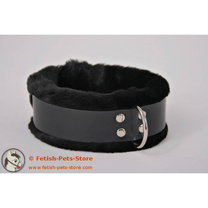 Premium Rubber Collar with Fur