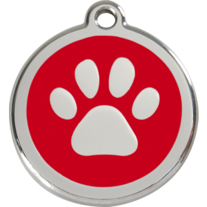 Dog Tag Round with Paw Print