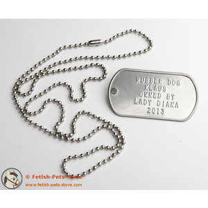 Dog Tag silver, single
