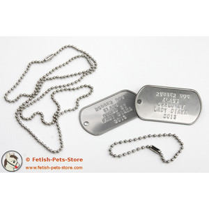 Dog Tag silver, double