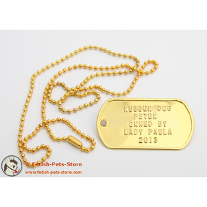 Dog Tag gold, single