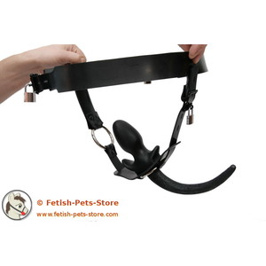 Dog Tail Rubber Harness