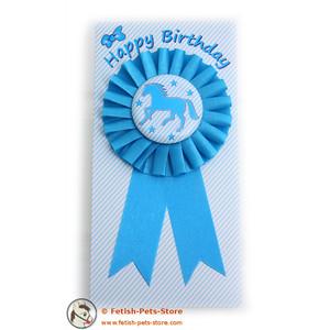 Schleife blau, Happy Birthday