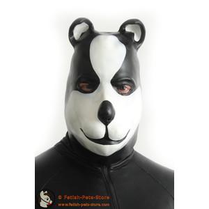 Maske Hund schwarz/weiß