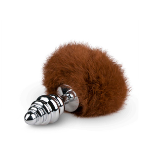 Bumble Bunny Faux Fur Tail Plug brown