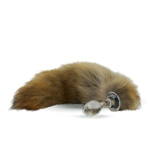 Fellschwanz Coyote mit Glas-Plug