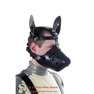 Hundeschnauze (Gummi) mit Butterflyknebel - Einzelstück