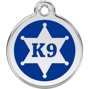 Dog Tag Round Sheriff K9