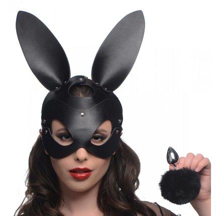 Hasenmaske und Plug Set