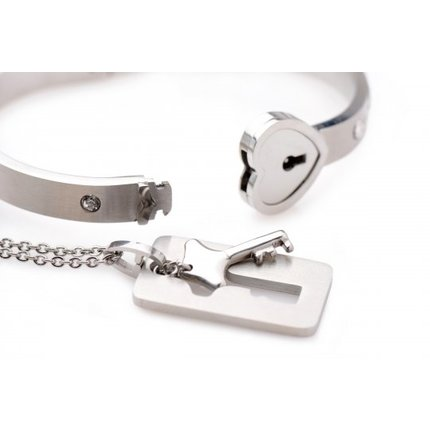 Abschließbares Armband mit Schlüsselkette