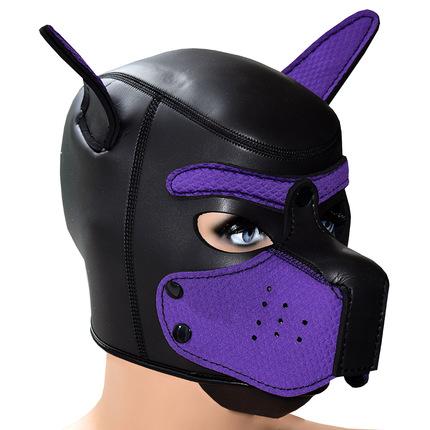 Puppy Play Neopren Maske diverse Farben