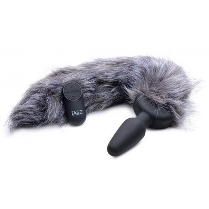 Remote Control Vibrating Fox Tail Plug