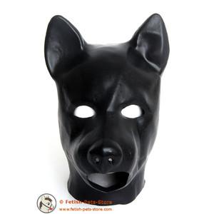 Dicke Latexmaske Hund mit Mundöffnung
