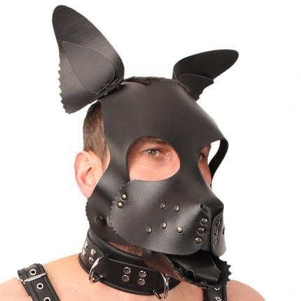 Leder Puppy Maske - farbig gestaltbar