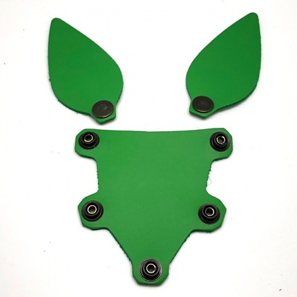 Puppy Hood Tongue and Ears Green