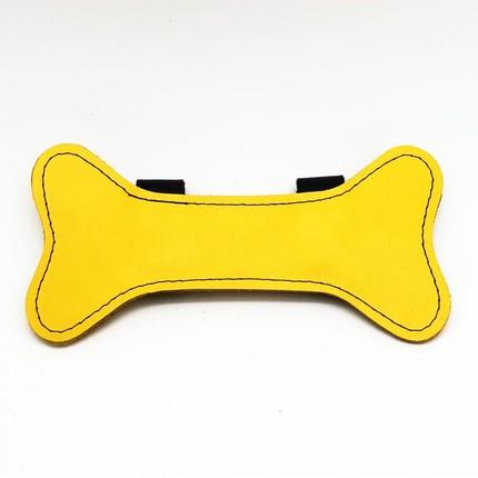 Puppy Leder Knochen gelb