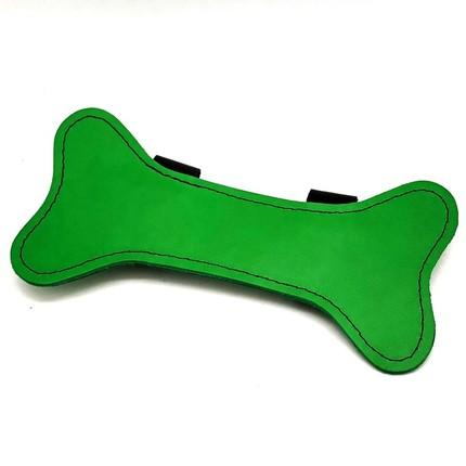 Puppy Leather Bone Green