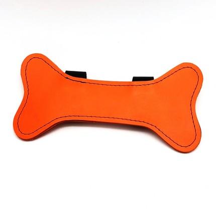 Puppy Leder Knochen orange