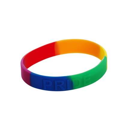 10 x Rainbow Pride Bracelet Silicone