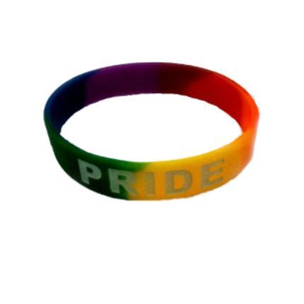 Rainbow Pride Armband Silikon