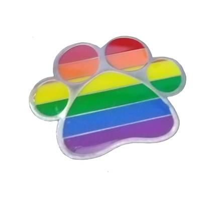 Pin Regenbogen Pfote