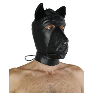 Leder Hundemaske