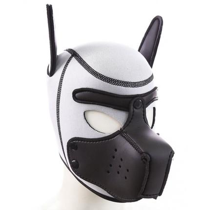 Weiße Puppy Neopren Maske