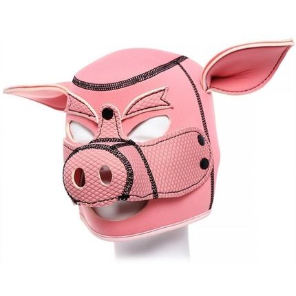 Schweinemaske Neopren pink