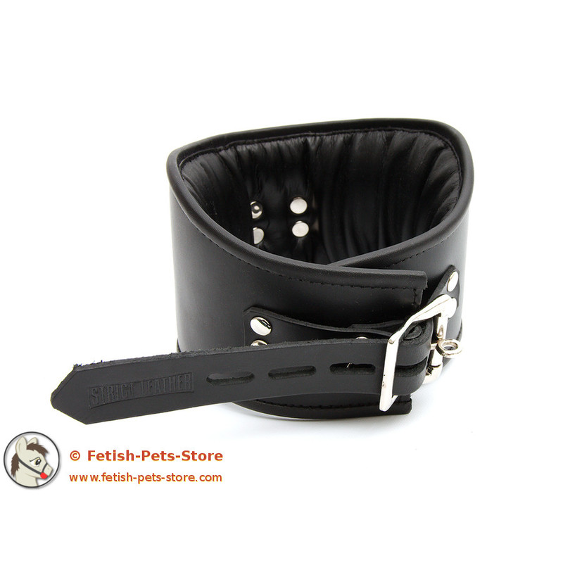 Locking fetish collar