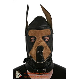 Dog Mask Leather Two-Colored
