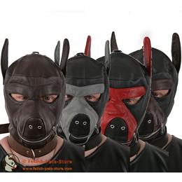 Hundemaske Leder in verschiedenen Farben
