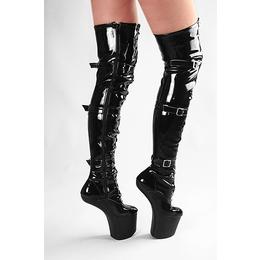 Overknee Pony Boots black