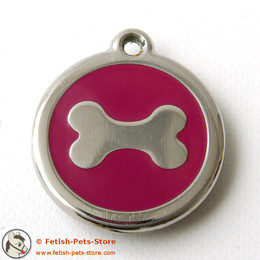 Dog Tag Round with Bone print