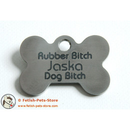 Dog Tag Bone Stainless Steel