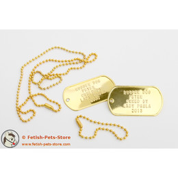 Dog Tag gold, double