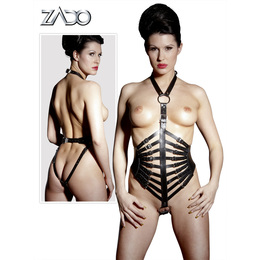 Leather Harness with Straps L/XL