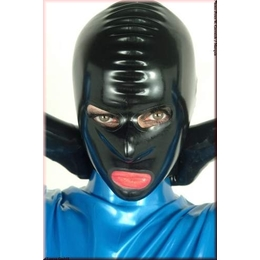 Latexmask with eyes/nose/mouth open - Single Item