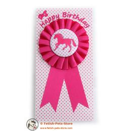 Ribbon pink, Happy Birthday