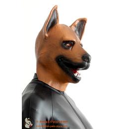 Schäferhund farbig Maske