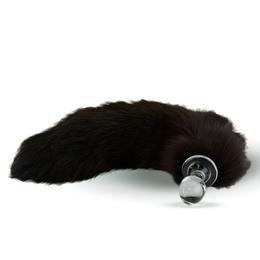 Fur Tail Brown with Glass Plug
