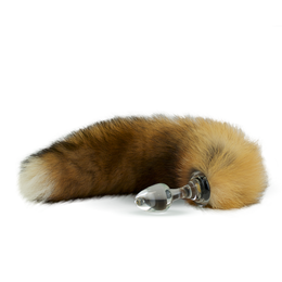 Fur Tail Canadian Red with Glass Plug