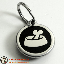 Dog Tag Round with Dog Bowl