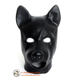 Latexmaske Hund mit Mundöffnung