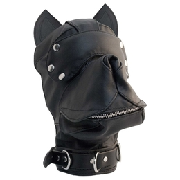 Leather Dog Hood Black