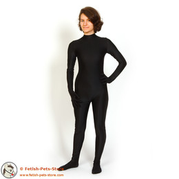 Cat Suit Lycra, Zip front