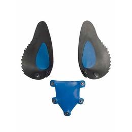 Gummi Hunde Maske Zunge und Ohren Blau