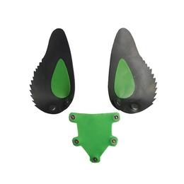 Gummi Hunde Maske Zunge und Ohren Grün